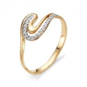 Кольцо из красного золота 585 пробы с фианитами арт.К-1075_2