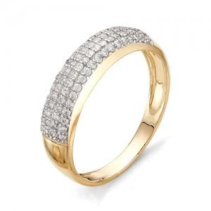 Кольцо из красного золота 585 пробы с фианитами арт.К-1076_4