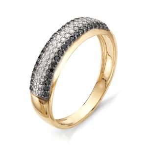 Кольцо из красного золота 585 пробы с фианитами арт.К-1076А_4
