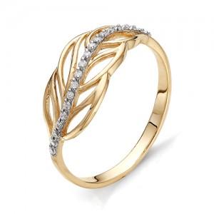 Кольцо из красного золота 585 пробы с фианитами арт.К-1077_1