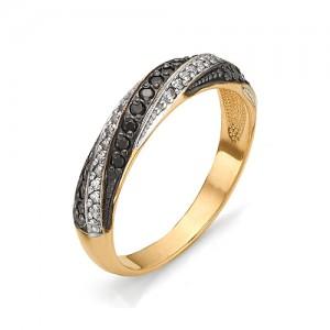 Кольцо из красного золота 585 пробы с фианитами арт.К-1079А