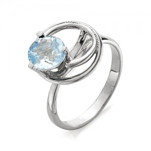 Кольцо из серебра 925 пробы с топазом арт. К-0089