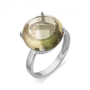 Кольцо из серебра 925 пробы с кварцем арт. К-0100