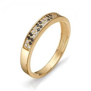 Кольцо из красного золота 585 пробы с фианитами арт.К-1080