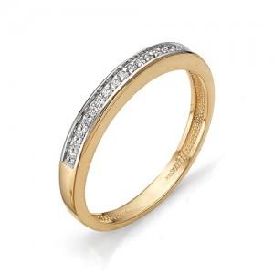 Кольцо из красного золота 585 пробы с фианитами арт.К-1082_1