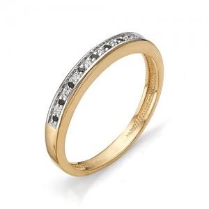 Кольцо из красного золота 585 пробы с фианитами арт.К-1082_2