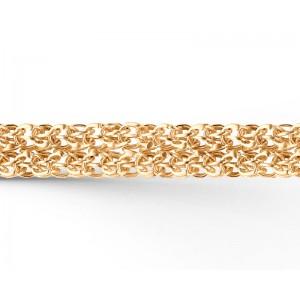 """Цепь """"Двойное  каре"""" из золота 585 пробы, арт. 81-00-105"""