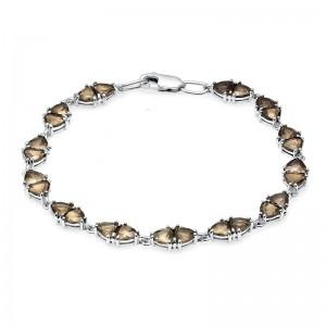 Браслет из серебра 925 пробы с полудрагоценными камнями арт. 83-14-011
