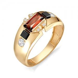 Перстень из золота 585 пробы с гранатом арт. 91-02-125