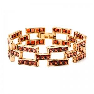Браслет из золота 585 пробы с полудрагоценными камнями арт. 81-11-027