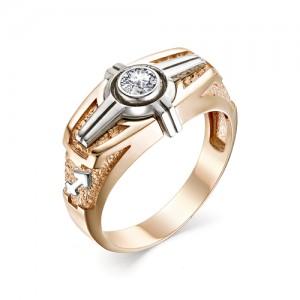Перстень Стрелец из комбинированного золота 585 пробы, арт. 91-02-023_12