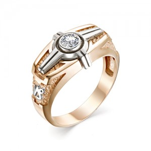 Перстень Козерог из комбинированного золота 585 пробы, арт. 91-02-023_1