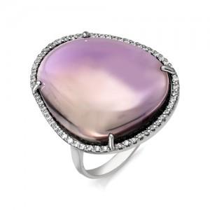Кольцо из серебра 925 пробы с кварцем арт. К-0107
